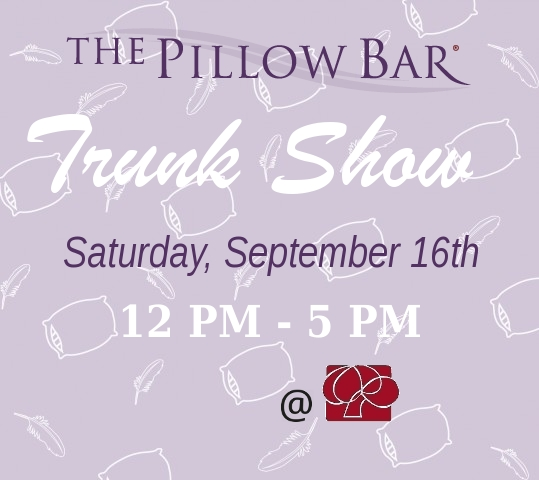 Pillow Bar Trunk Show 9/16 at The Linen Tree