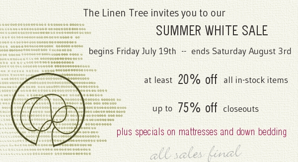 White Sale up to 75% off 7/19-8/3
