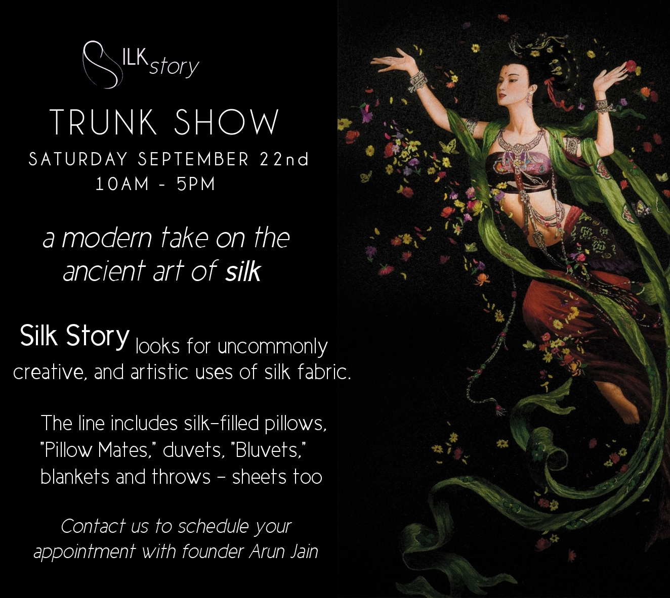 Silk Story trunk show 9/22 10-6
