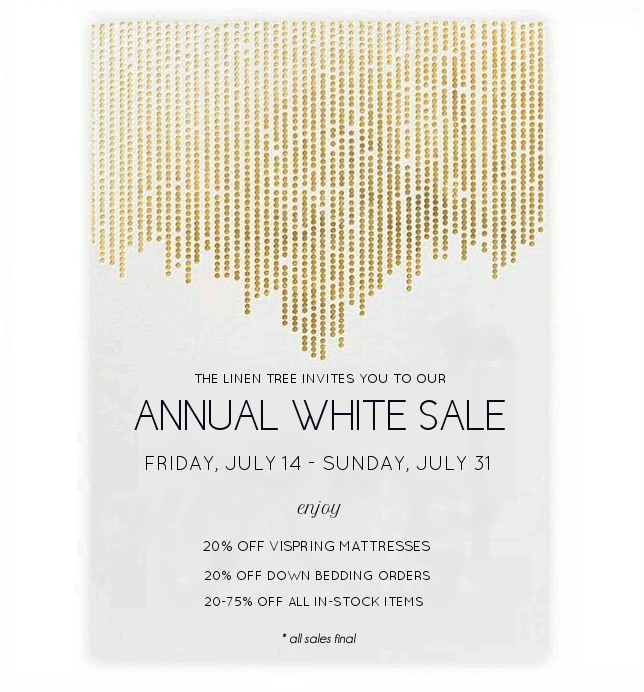 annual white sale runs 7/14 - 7/31